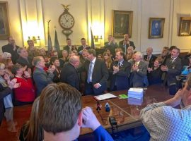 Celebration as Gov Sununu eliminates license requirement for carrying concealed weapons.